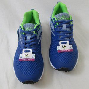 LA Gear Honey Running Shoe Blue and Green …